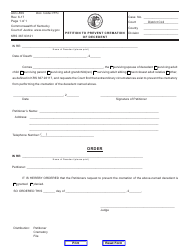"""Form AOC-859 """"Petition to Prevent Cremation of Decedent"""" - Kentucky"""