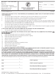 "Form AOC-JV-49 ""Notice of Juvenile Rights and Consequences"" - Kentucky"