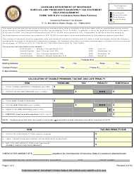 "Form 1265 B ""Surplus Line Producer's Quarterly Tax Statement Self-procurement"" - Louisiana"