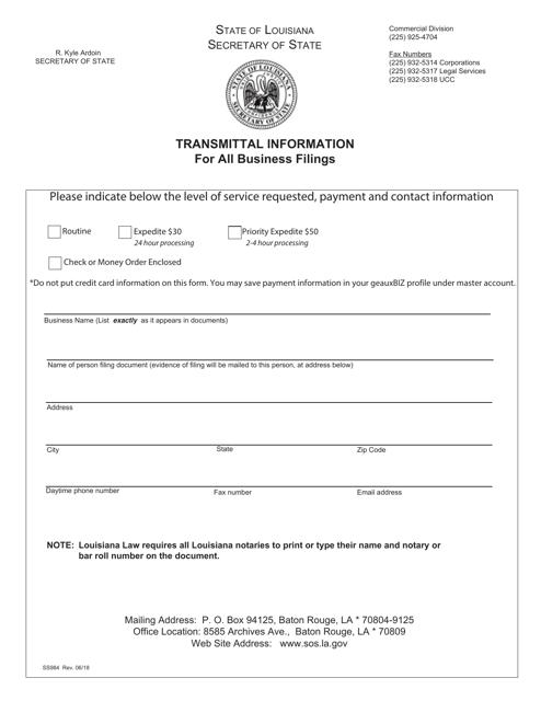 Form SS344  Printable Pdf