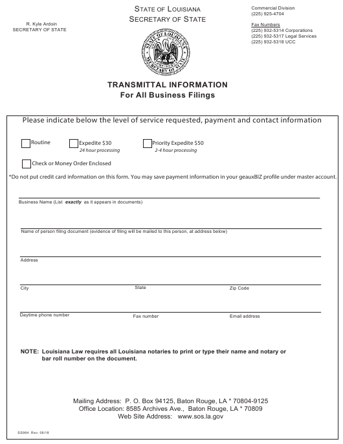 Form SS396  Printable Pdf