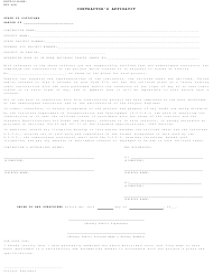 "Form DOTD03-40-0001 ""Contractor's Affidavit"" - Louisiana"