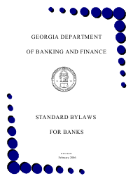 """Standard Bylaws for Banks"" - Georgia (United States)"