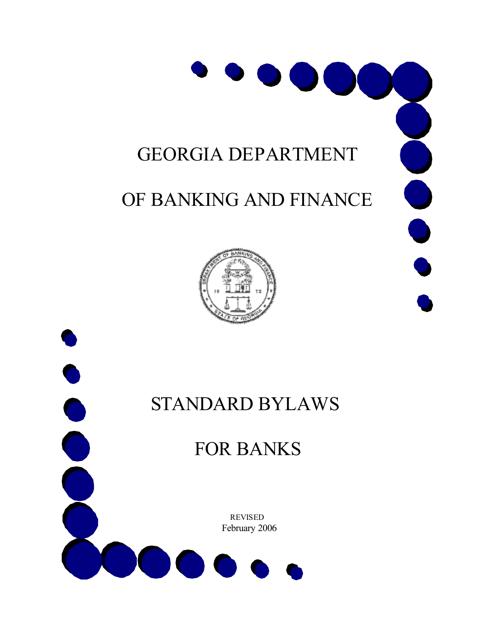"""Standard Bylaws for Banks"" - Georgia (United States) Download Pdf"