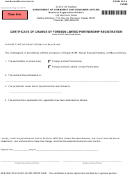 "Form FLP-2 ""Certificate of Change of Foreign Limited Partnership Registration"" - Hawaii"