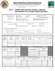 "Form OG-3 ""Permit Application to Drill, Deepen, or Convert to a Class II Injection Well"" - Illinois"