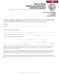 Form I 221 Credit Services Organization $100,000 Surety Bond - Illinois