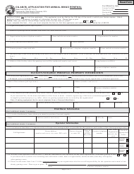 State Form 46573 Form Cg-Ab(R) - Application for Annual Bingo Renewal - Indiana