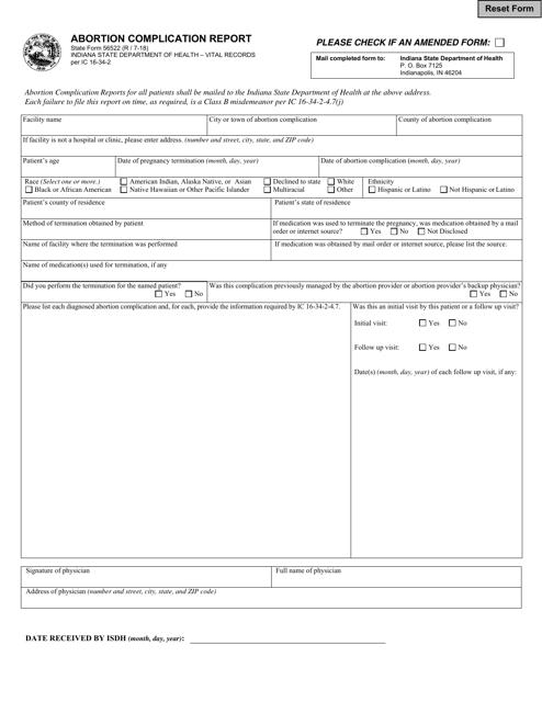 State Form 56522  Printable Pdf