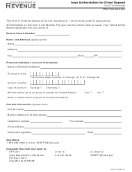 Form 90-303 Application for Direct Deposit of Fuel Tax Refunds - Iowa