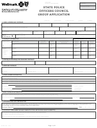 """Form M-5781 """"State Police Officers Council Group Application"""" - Iowa"""