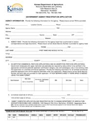 "Form KPL-500 ""Government Agency Registration Application"" - Kansas"