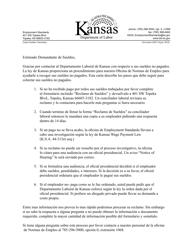 "Formulario K-ESLR106 ""Reclamo De Sueldos"" - Kansas (Spanish)"