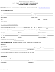 "Form CM-15 ""Pay Plan Request for Individuals"" - Kansas"