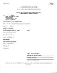 "Form DSS-177 ""Report of Filing of Petition for Involuntary Termination of Parental Rights"" - Kentucky"