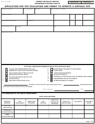 "Form DFS-345 ""Application for Site Evaluation and Permit to Operate a Disposal Site"" - Kentucky"