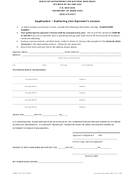 "Form ED-2 ""Application - Gathering Line Operator's License"" - Kentucky"