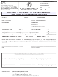 "Form AOC-INT-1 ""Office of Language Access Statement for Services"" - Kentucky"