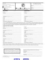 "Form AOC-FC-3 ""Case Data Information Sheet"" - Kentucky"