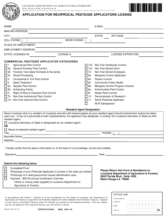 Form AES-07-80  Printable Pdf