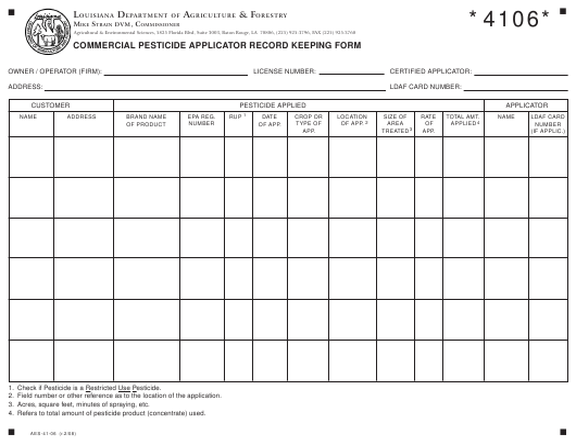 Form AES-41-06  Printable Pdf