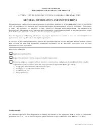 """Application to Contract With an Eligible Organization Form"" - Georgia (United States)"