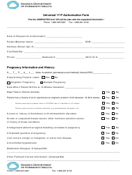 """Universal 17-p Authorization Form"" - Georgia (United States)"