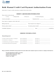 "Form RC-ACC-500 ""Bulk Manual Credit Card Payment Authorization Form"" - Georgia (United States)"