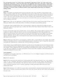 """Instructions for """"Center Review Form for Child Care Centers - Sponsoring Organizations Only"""" - Georgia (United States), Page 2"""