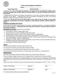 "Attachment A ""Vendor Acknowledgement Statement Form"" - Georgia (United States)"