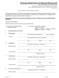 "Form GUST-36 ""Gust Trust Fund Application"" - Georgia (United States)"