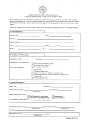 """Chemical Monitoring Laboratory Report Form"" - Georgia (United States)"