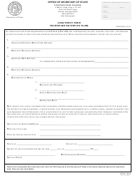 "Form TM03 ""Assignment Form - Trademark or Service Mark"" - Georgia (United States)"