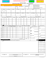 "Form D-70 ""Notification for Payroll Adjustment"" - Hawaii"