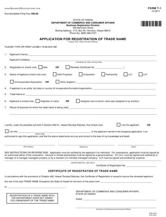 form-t-1-application-registration-trade-name-hawaii_big T Application Registration Request Form Pdf on employee vacation, change order, sample travel,