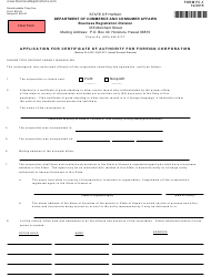 "Form FC-1 ""Application for Certificate of Authority for Foreign Corporation"" - Hawaii"
