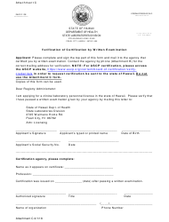 "Attachment C ""Verification of Certification by Written Examination"" - Hawaii"