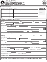 """""""Application for Marine Ocean Water Event - Kaua'i and Maui Districts"""" - Hawaii"""