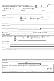 "Form MTRB JC-1 ""Transmittal for Material Review/Testing"" - Hawaii"