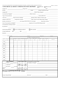 "Form MTRB JC-1A ""Concrete & Grout Strength Test Report"" - Hawaii"