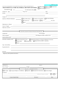 "Form MTRB VJC-3 ""Transmittal for Material Review/Testing"" - Hawaii"