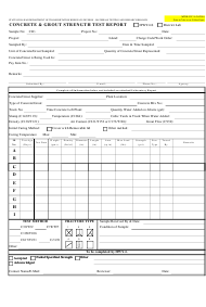 "Form MTRB CJC-2A ""Concrete & Grout Strength Test Report"" - Hawaii"