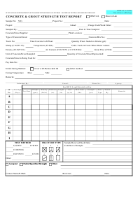 "Form MTRB VJC-3A ""Concrete & Grout Strength Test Report"" - Hawaii"