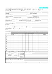 "Form MTRB VJC-3A ""Concrete & Grout Strength Test Report"" - Hawaii"