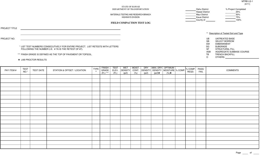 Form MTRB LG-1  Printable Pdf
