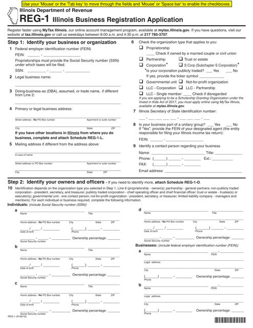 Form REG-1 Printable Pdf