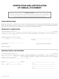 "Form IL581-0035 ""Verification and Certification of Annual Statement"" - Illinois"