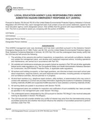 Form IOCI 13-316 Local Education Agency (Lea) Responsibilities Under Asbestos Hazard Emergency Response Act (Ahera) - Illinois