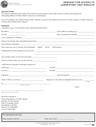 "Form IOCI15-752 ""Request for Access to Laboratory Test Results"" - Illinois"