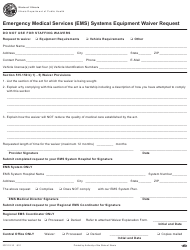 "Form IOCI12-12 ""Emergency Medical Services (EMS) Systems Equipment Waiver Request"" - Illinois"